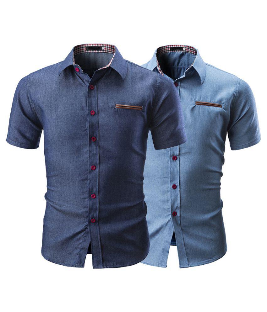 Duomu Navy Round T-Shirt