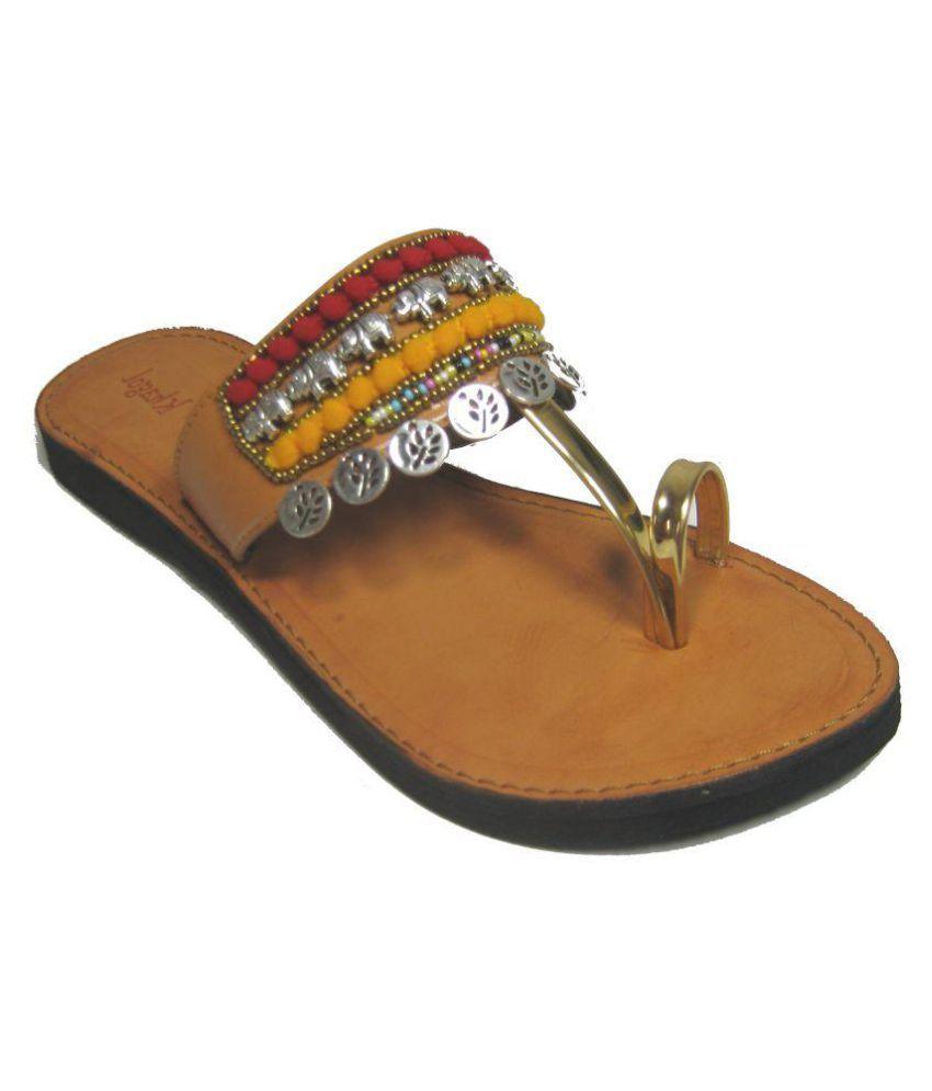 KHAGOL LEATHER CRFATS Multi Color Ethnic Footwear