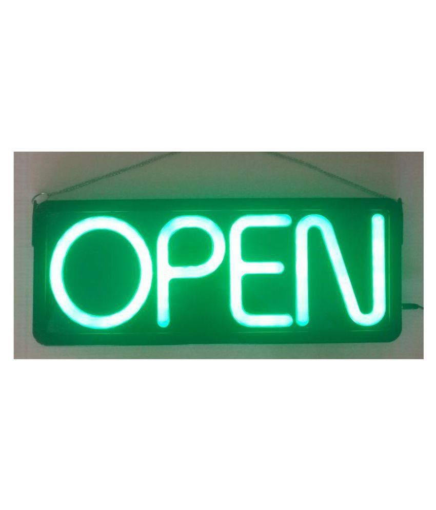 OPEN Neon look Ultra Bright Sign Board With  7-inch Letters' Height (56 cm x 22 cm x 4 cm)