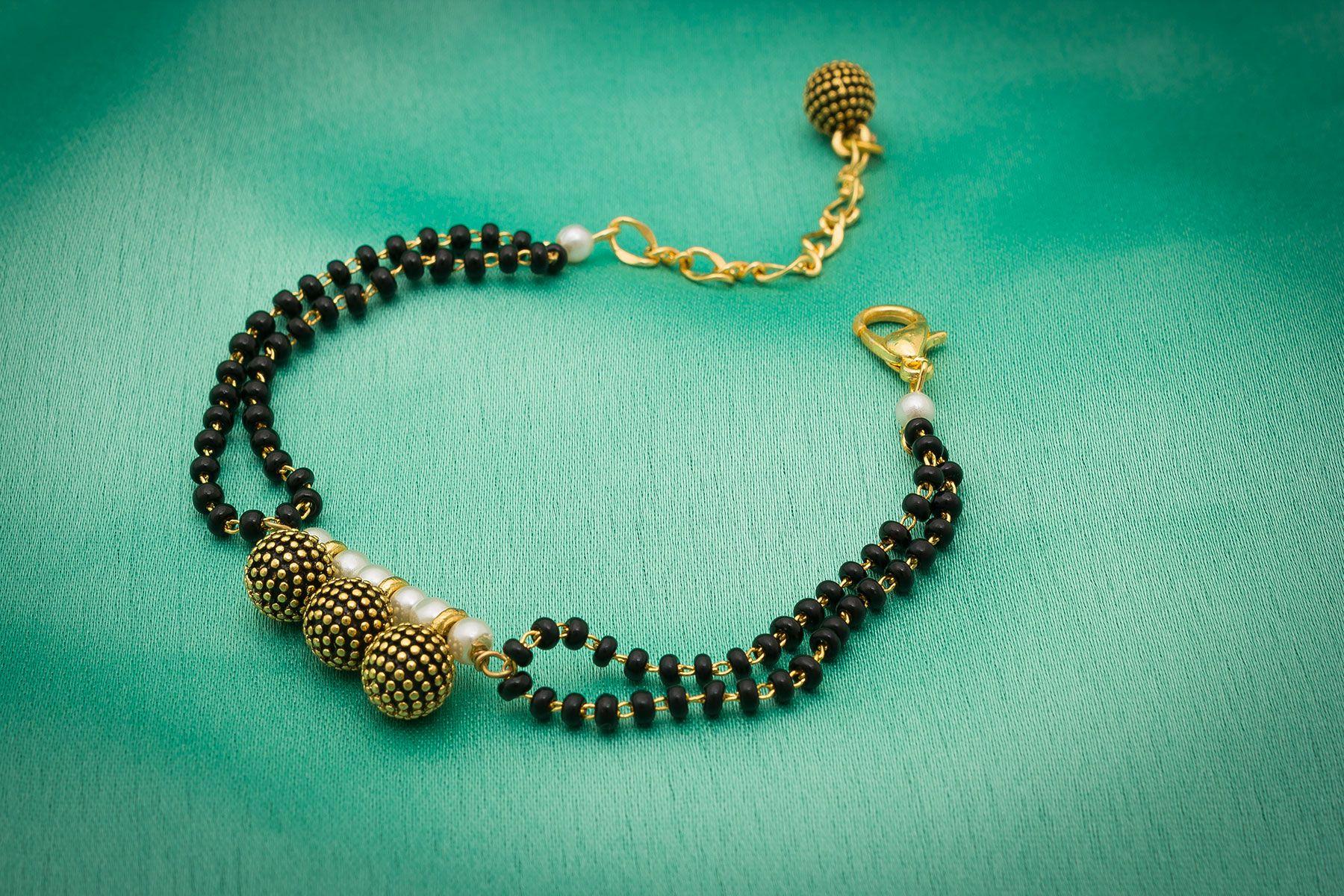 Aadita mangalsutra Design Traditional charm Bracelet for Women