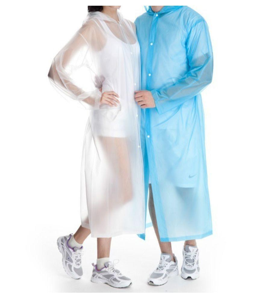 Changing Destiny Waterproof Long Raincoat - White
