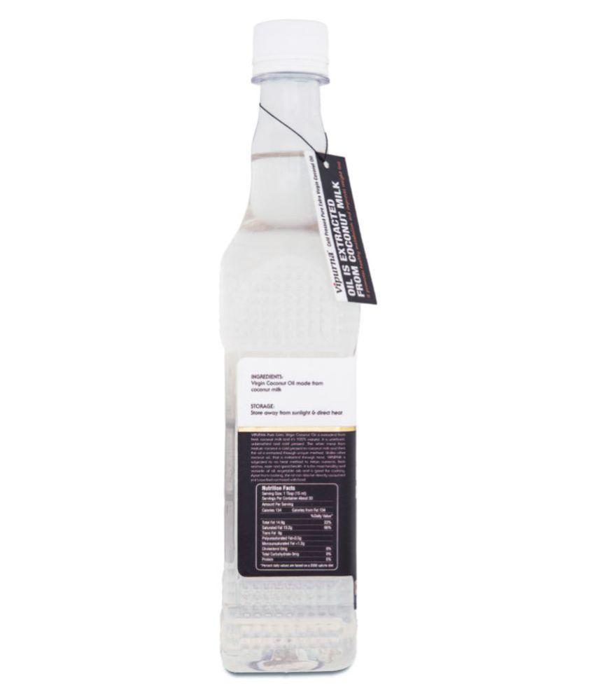 Vipurna Cold Pressed Extra Virgin Coconut Oil 500 Ml Buy 125