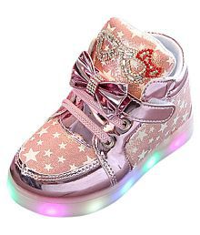 Passion Petals Pink Star Led Shoes