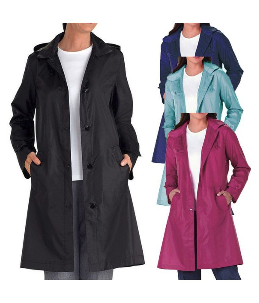 Kamalife Nylon Raincoat Set - Multi Color