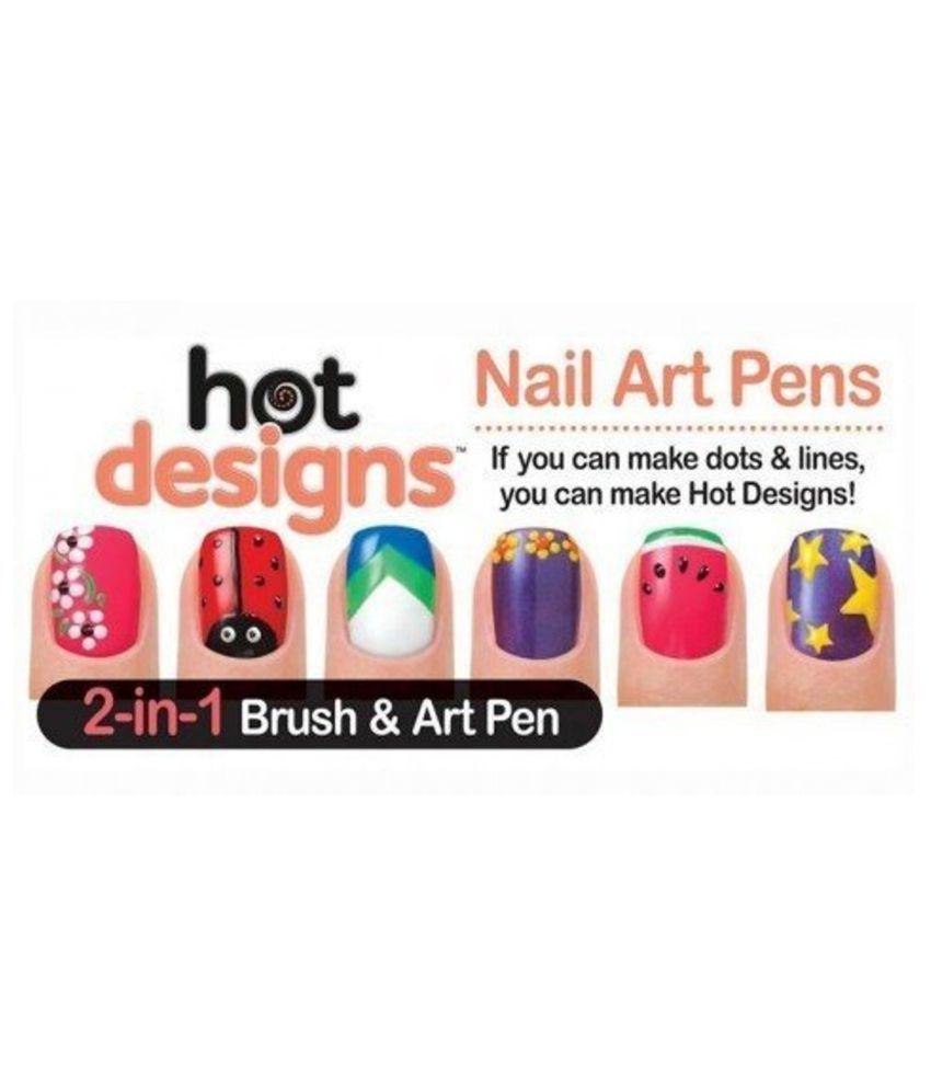 Nail Art Design Pen New Nail Paint Decorator With 6 Glitz Glam