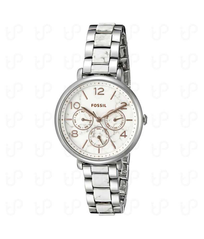Fossil Jacqueline MultiFunction White Dial Stainless Steel Ladies