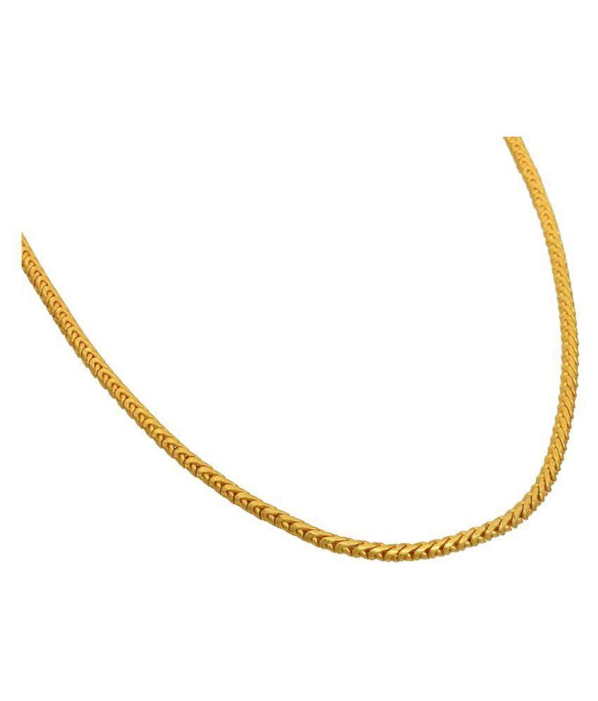 86fb9ccb515 ... Memoir Brass, Gold plated Round snake chain design, 26 Inch, 17 Gms  Fashion ...