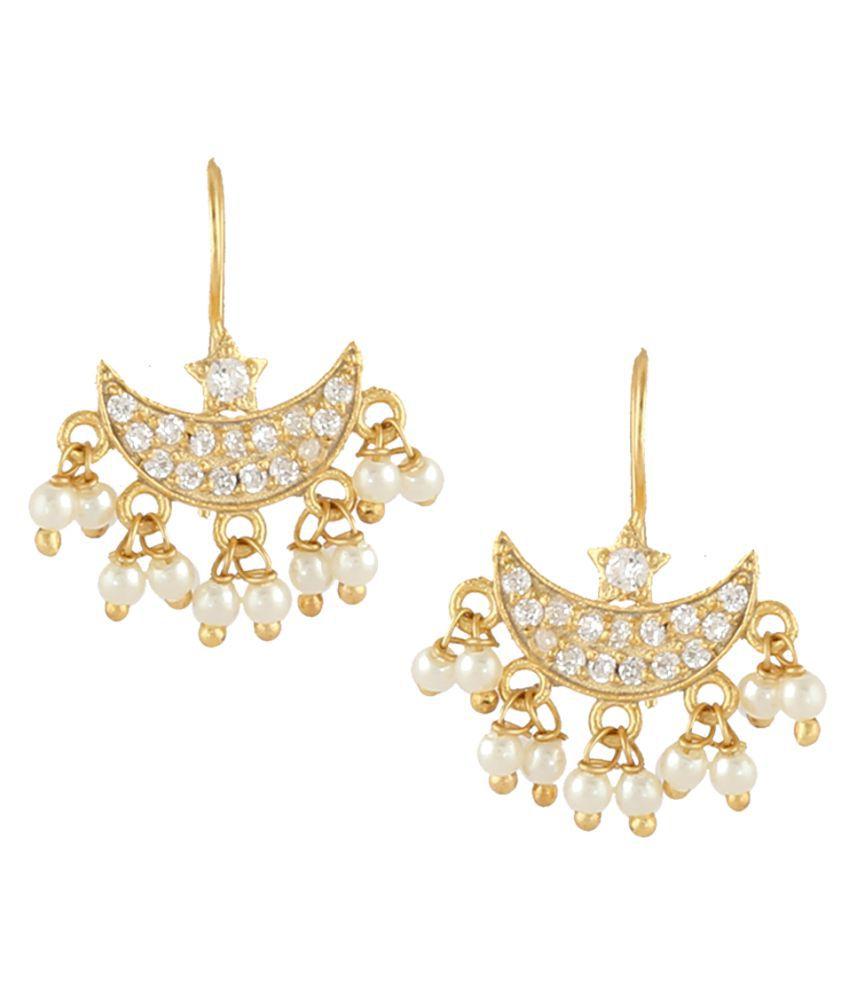 Anuradha Art Gold Finish Chandrakor Styled Traditional Maharashtiran Jewellery Bugdi Earrings For Women/Girls