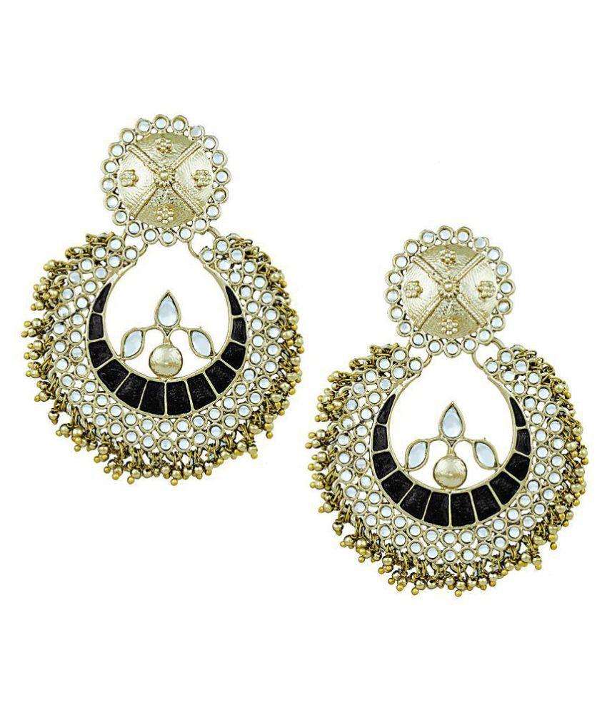 Shining Jewel Traditional Chandbali Earrings for Women (SJ_1044)