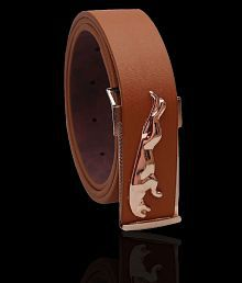 ASF Tan Leather Party Belt