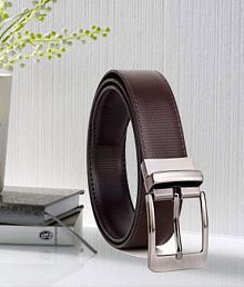 Woodland Scenics Brown Faux Leather Formal Belt