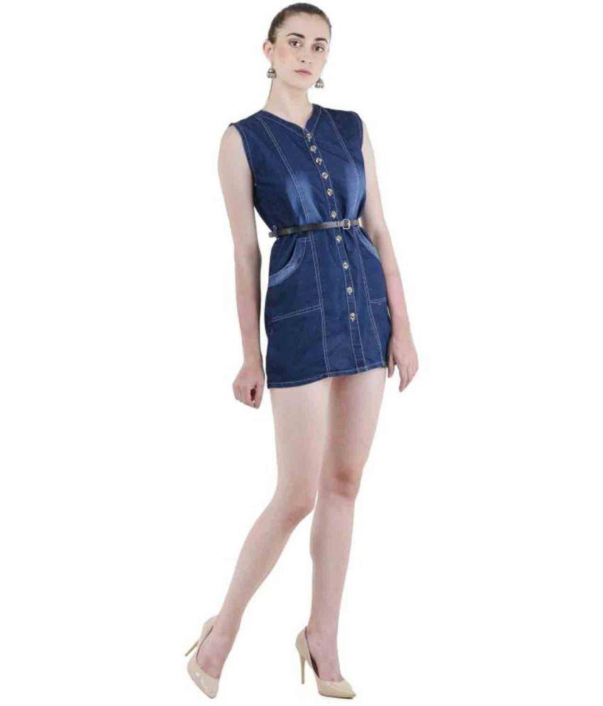 Cozami Denim Blue Shirt Dress