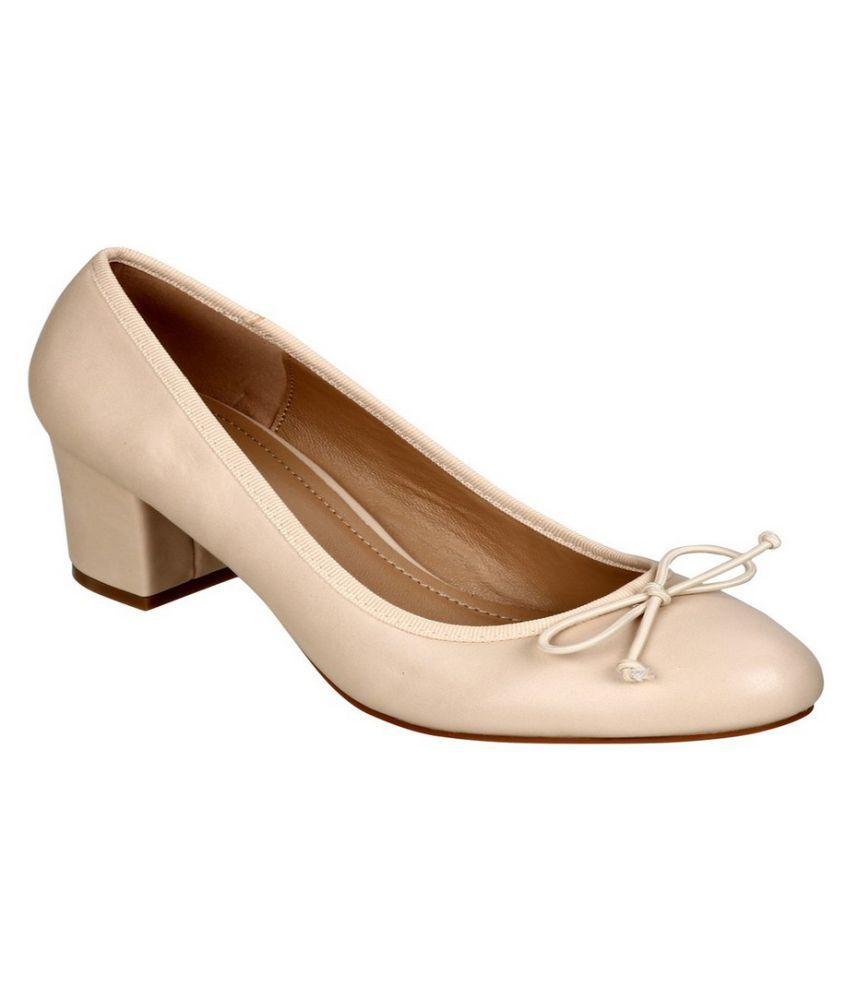 Lavie Beige Block Heels