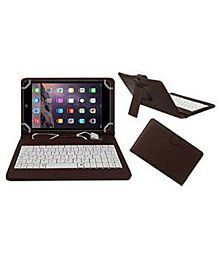 Acm Usb Keyboard Case for Apple Ipad Mini 2 Tablet Cover Stand - Brown