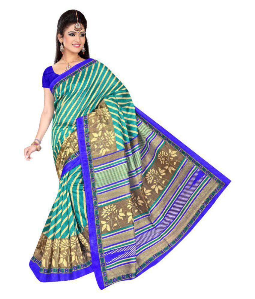 Pehnava Multicoloured Bhagalpuri Cotton Saree