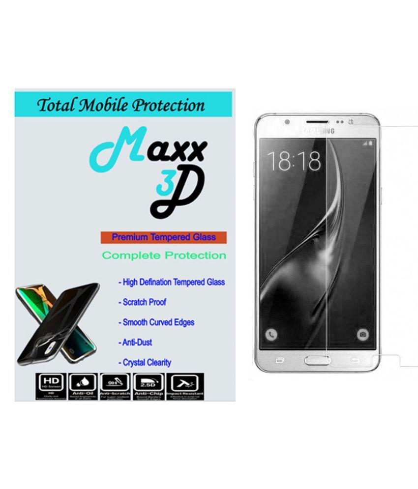 Samsung Galaxy J5 Tempered Glass Screen Guard By MAXX3D