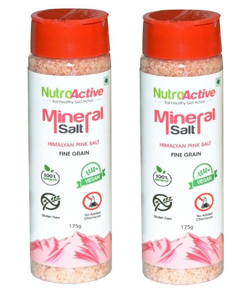 NutroActive Salt Sprinkler, Shaker (Pack of 2) Himalayan Pink Salt 175 gm