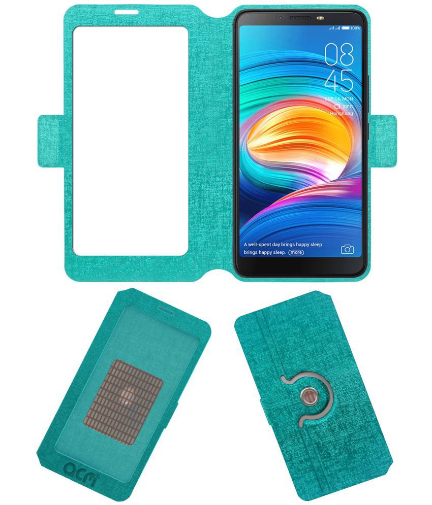 I Click Flip Cover by ACM - Blue Dual Side Stand