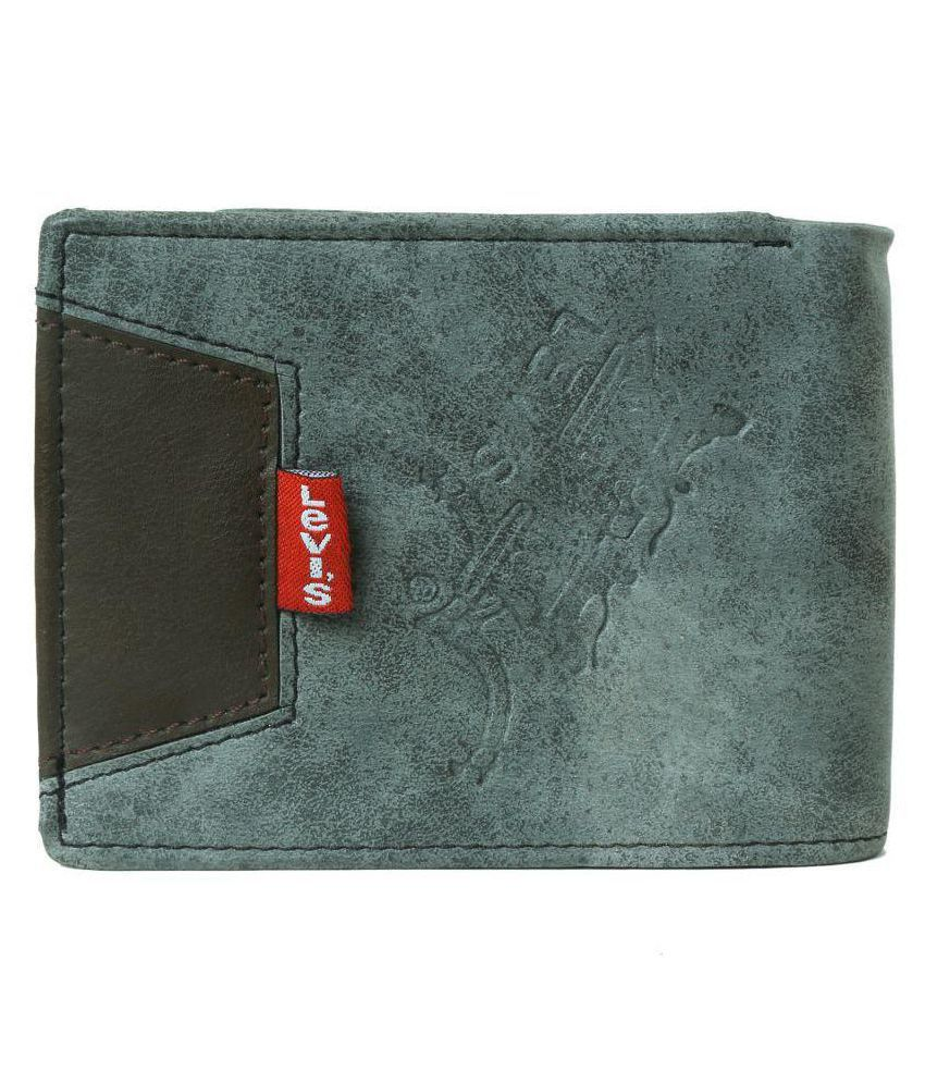 Levi's Leather Gray Casual Regular Wallet