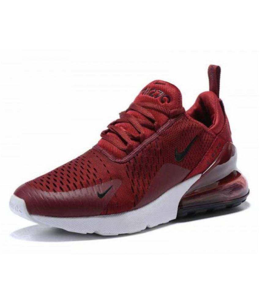 pretty nice 340fd 552f1 Nike AIR Max 270 Maroon Running Shoes