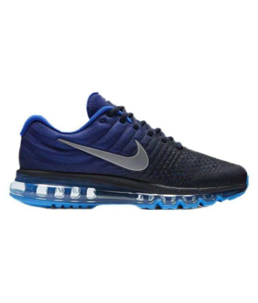 516c6d658700b Nike AIRMAX 2017 Blue Running Shoes - Buy Nike AIRMAX 2017 Blue Running  Shoes Online at Best Prices in India on Snapdeal