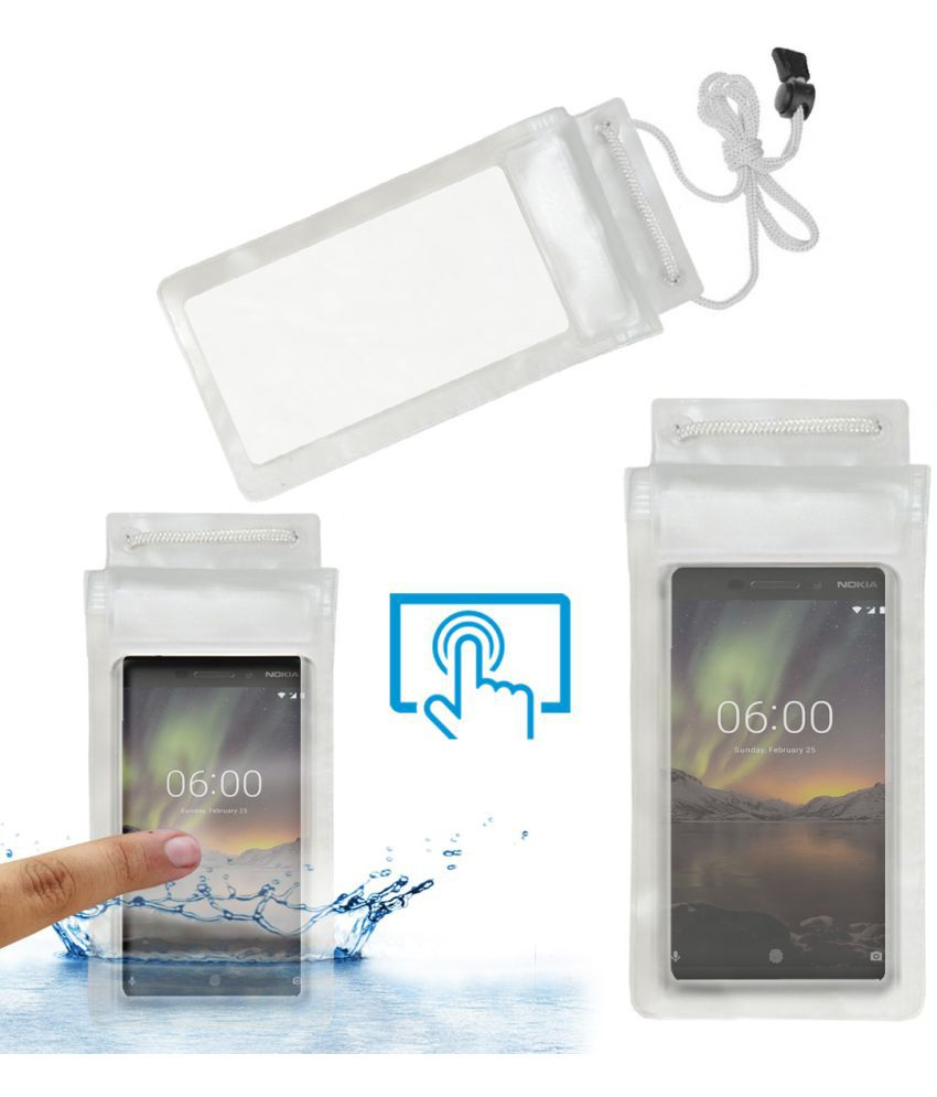 Nokia 6.1 Holster Cover by ACM - Transparent Waterproof Bag,Rain,Dust,Snow & Water Resistant