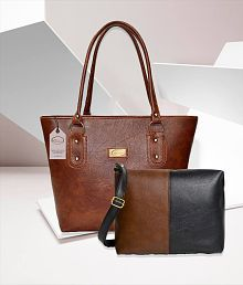 ec2c29815824 Quick View. Best Priced Multi Faux Leather Shoulder and Sling Tote Handbag  ...