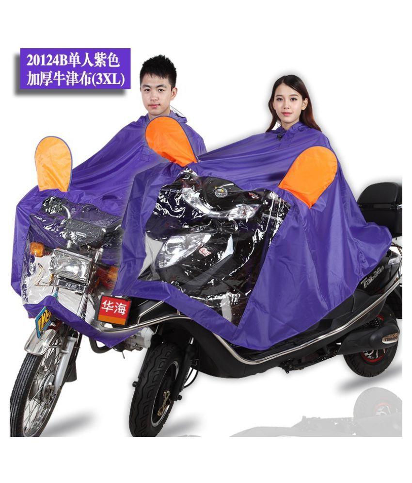 Changing Destiny Polyester Long Raincoat - Purple