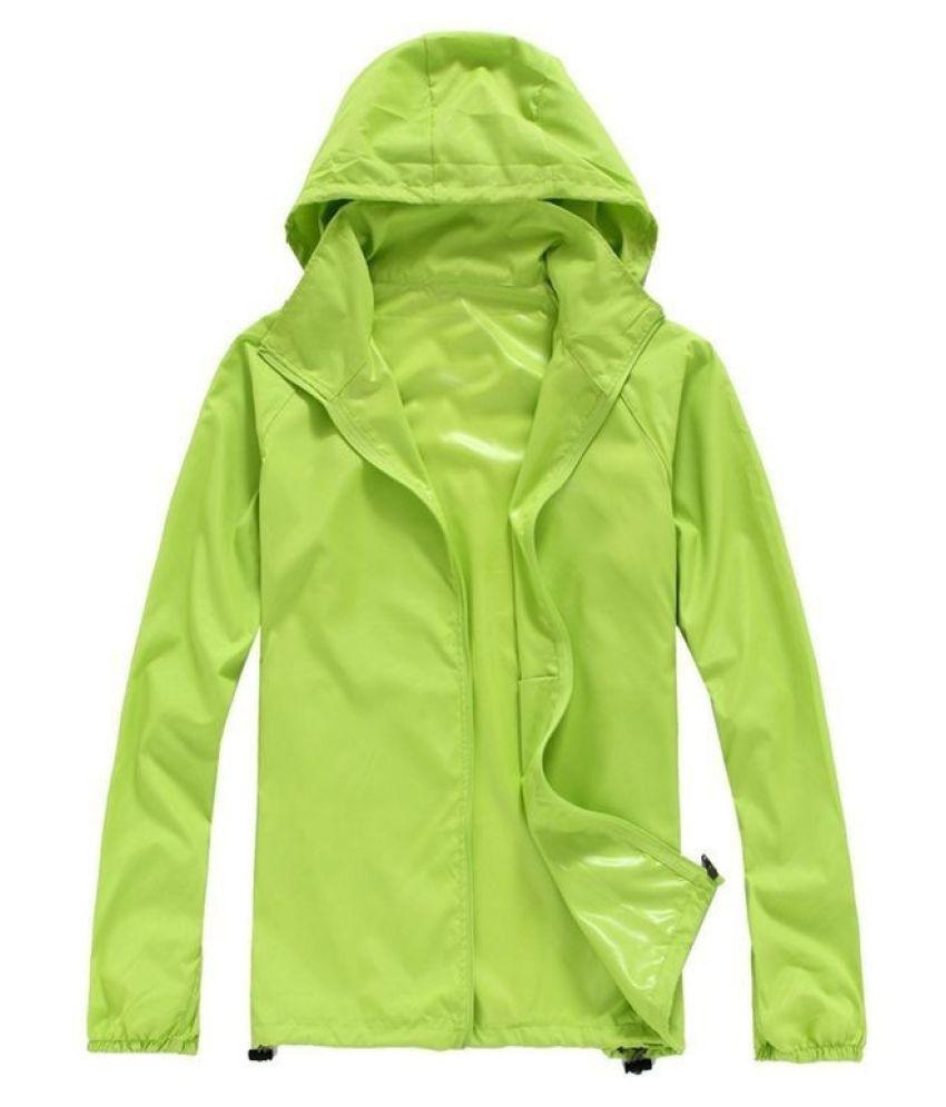 Changing Destiny Polyester Long Raincoat - Green