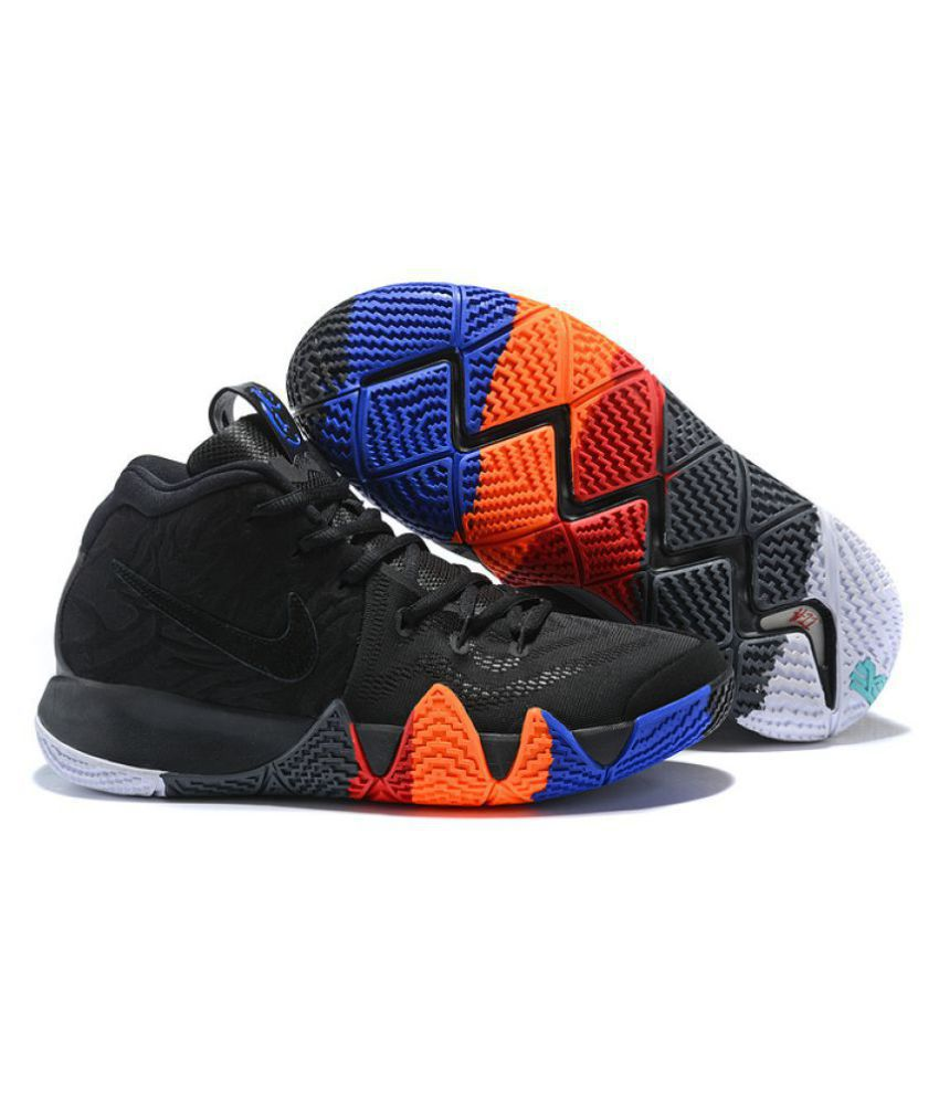 new concept c9d97 59dea Nike Kyrie 4 Black Basketball Shoes Nike Kyrie 4 Black Basketball Shoes ...