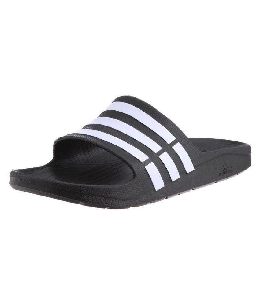 ec723cc276fe Adidas Dare Duramo Slide Black Slide Flip flop Price in India- Buy Adidas  Dare Duramo Slide Black Slide Flip flop Online at Snapdeal