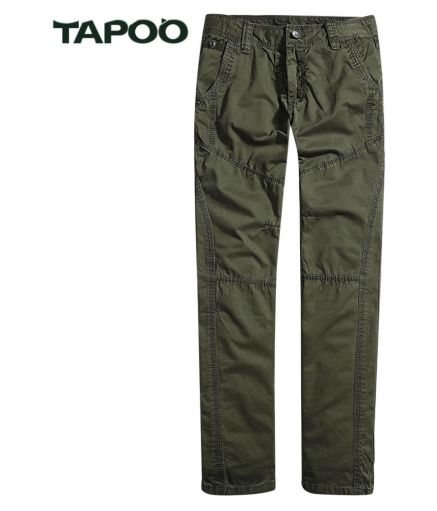 Whitleys Dark Green Loose -Fit Flat Trousers