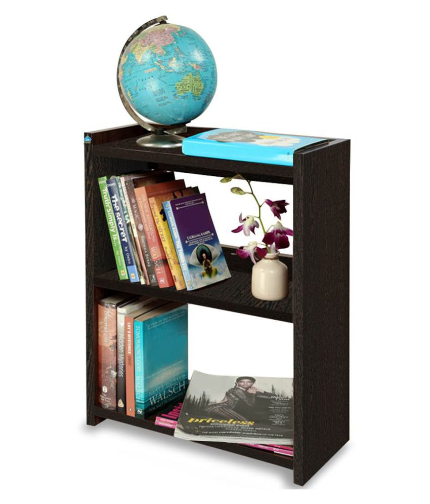 Delite Kom Blossom Rack Small Wenge Engineered Wood Open Book Shelf  Finish Color   Wenge