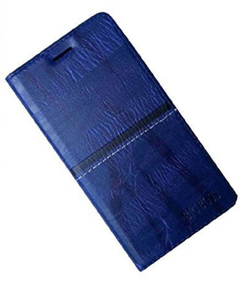Intex Aqua 3X (4GB) Flip Cover by Zocardo - Blue