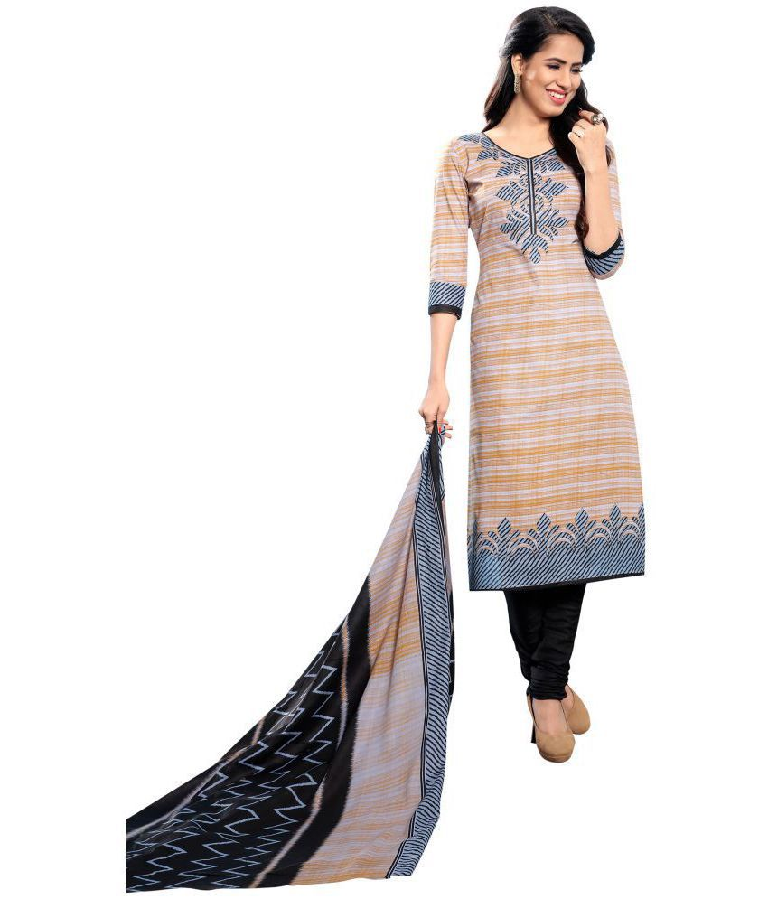 Women Shoppee Multicoloured Cotton Dress Material