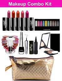 Makeup Combo Kit For Summer Vacation With Carry Pouch Pack Of 11