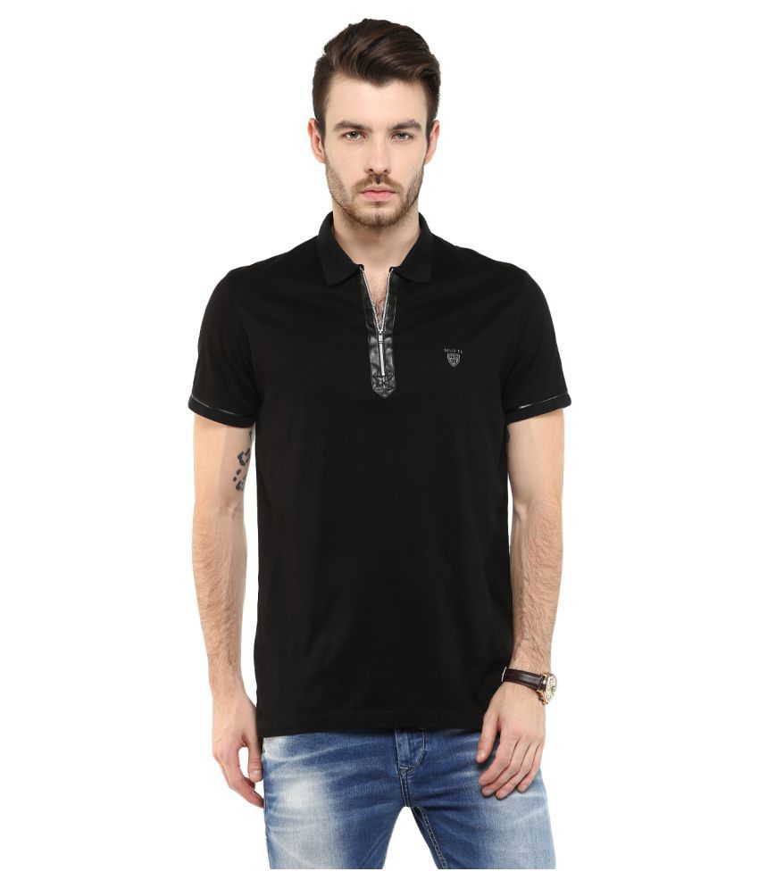 c9637a800e69 Mufti Black Slim Fit Polo T Shirt - Buy Mufti Black Slim Fit Polo T Shirt  Online at Low Price - Snapdeal.com