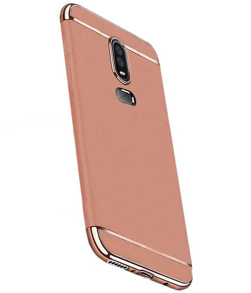 finest selection f3701 a3475 OnePlus 6 Plain Cases TBZ - Rose Gold