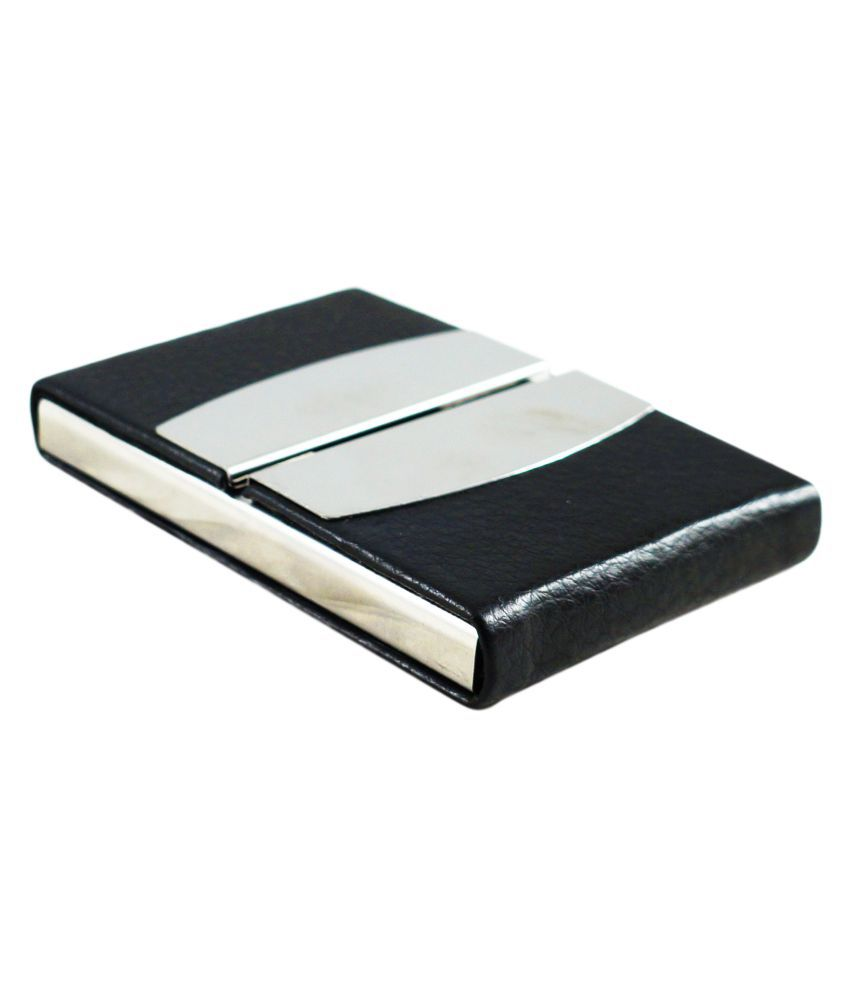 Auteur, Stylish Corporate Collection, For Men and Women, Metal and PU Body Magnetic Closure, Impress Your Clients with This Stylish Card Holder