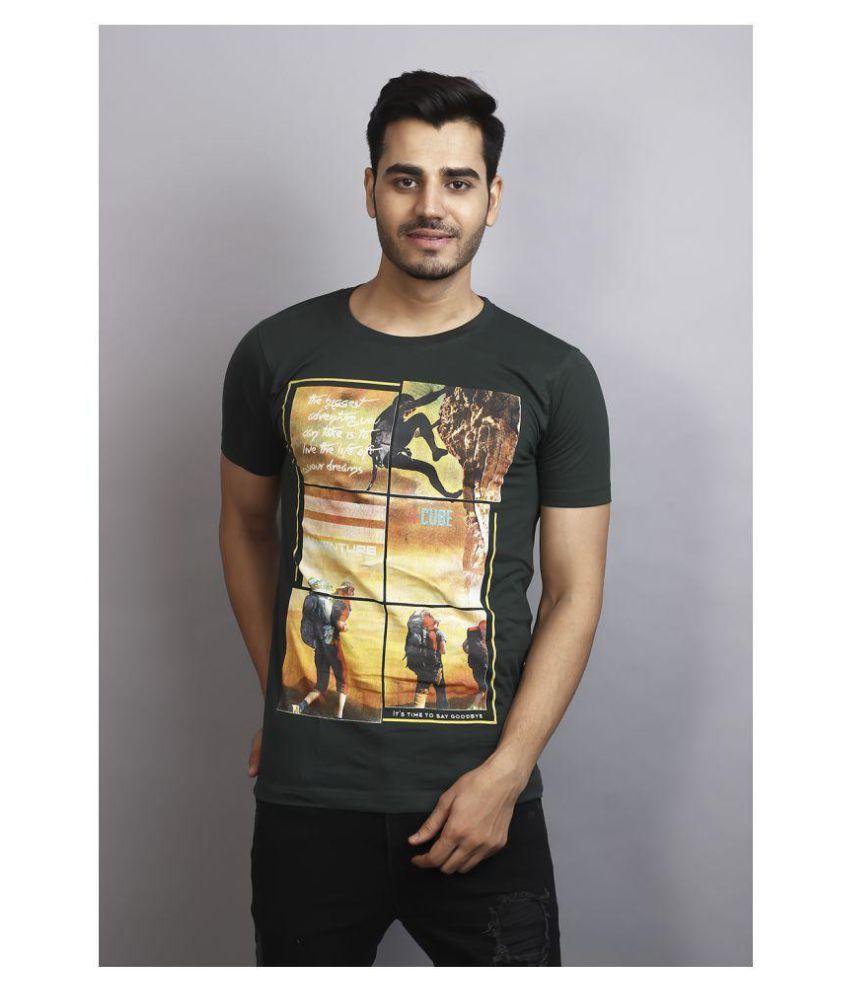 Blaze international Black Round T-Shirt Pack of 1