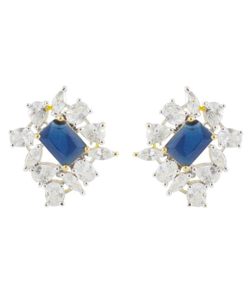 Rejewel Classic Blue Stone Earrings for your Loved ones