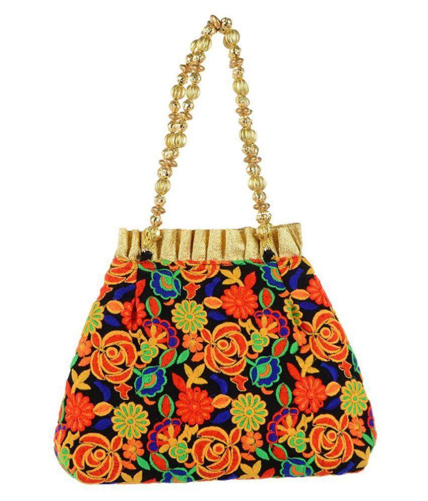 Tooba Handicraft Multi Fabric Potli