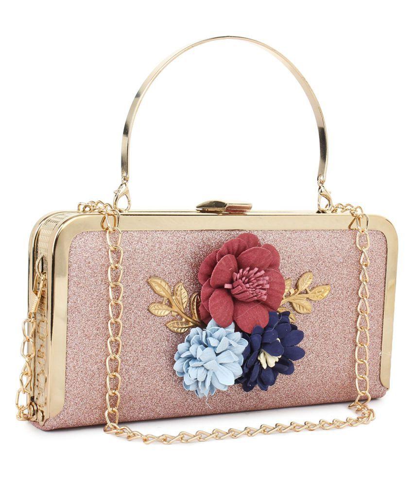 Beauty Queen Pink Silk Box Clutch