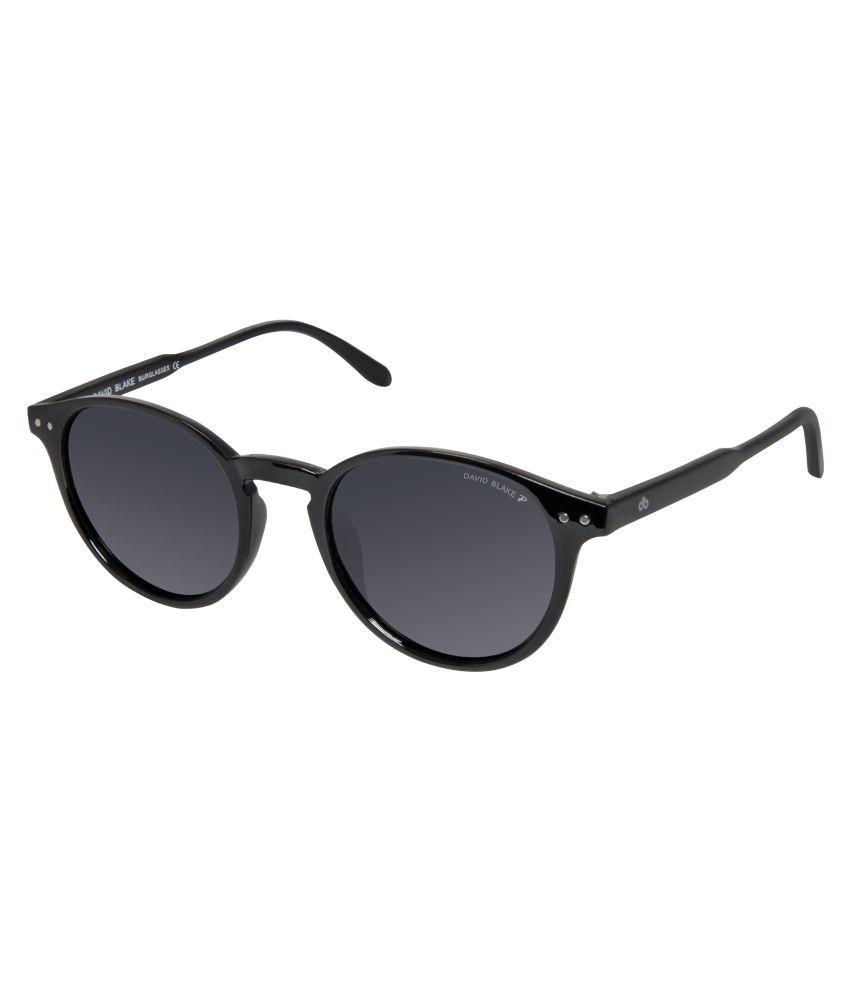 David Blake Black Round Sunglasses ( SGDB1420 )