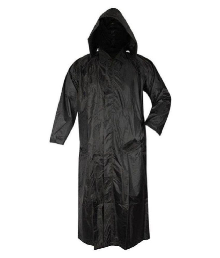 Kartikeya Trading Polyester Long Raincoat - Black