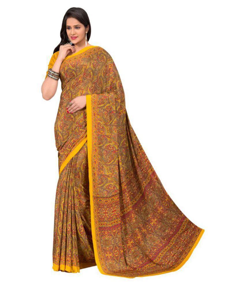 Kumaran Silks Multicoloured Crepe Saree