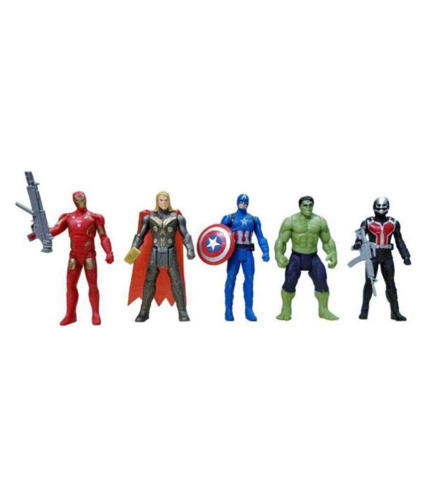 marvel avengers set of 5 ant man thor hulk iron man captain america rh snapdeal com