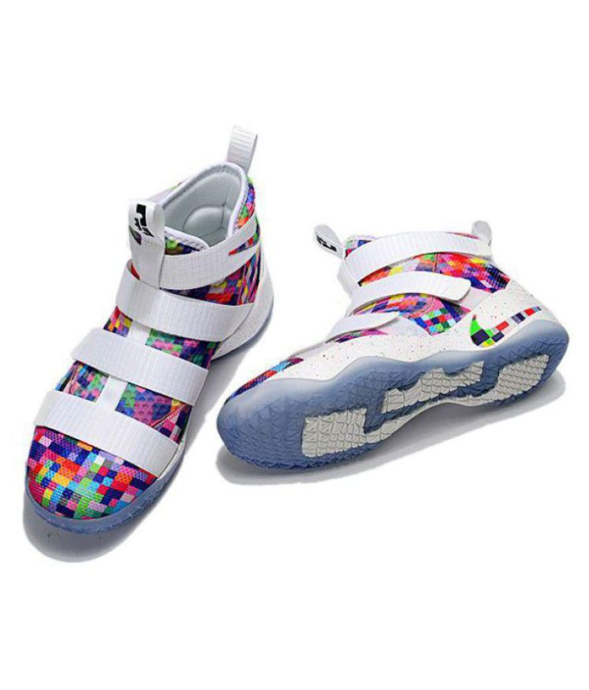 4e7044c47b5bd Nike Lebron Soldier XI 11 White Basketball Shoes - Buy Nike Lebron Soldier  XI 11 White Basketball Shoes Online at Best Prices in India on Snapdeal