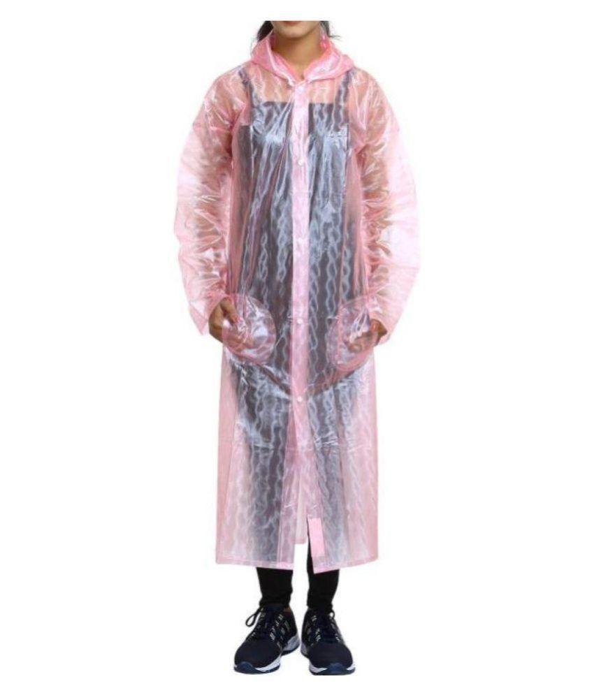 Kartikeya Trading Long Raincoat - Pink