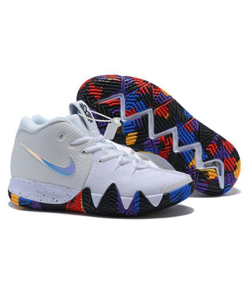 70f4c9615d41 Nike KYRIE 4 White Basketball Shoes - Buy Nike KYRIE 4 White Basketball  Shoes Online at Best Prices in India on Snapdeal